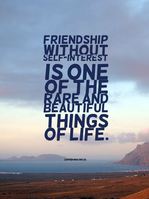 Friendship Without Self-Interest