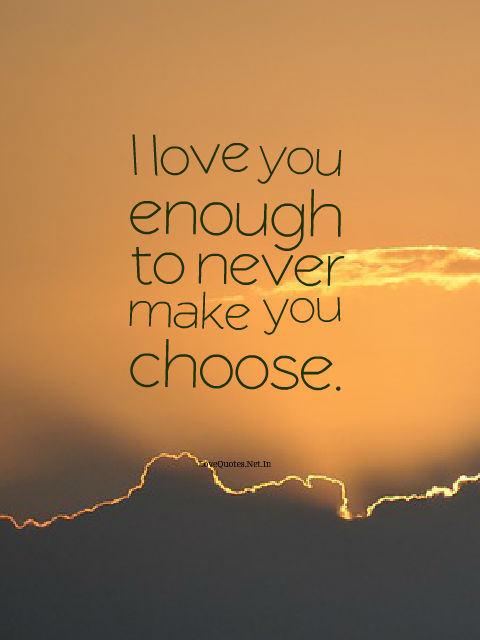I Love You Enough
