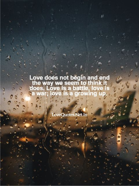 Love Does Not Begin And End