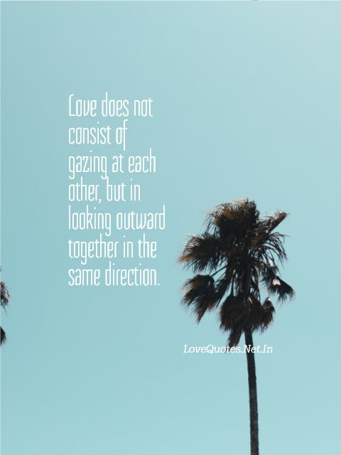 Love Does Not Consist Of Gazing At Each Other