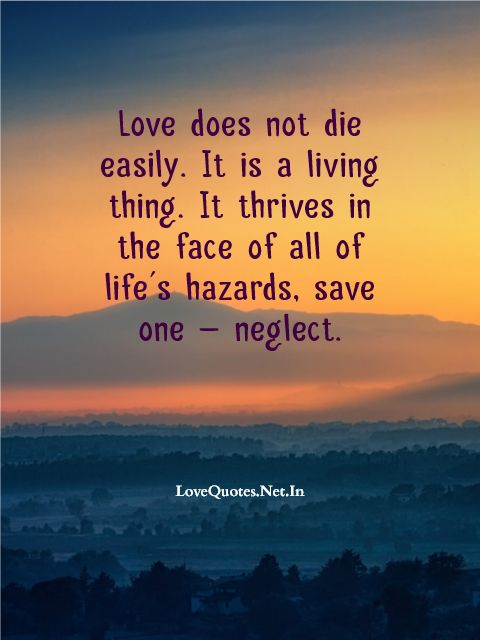 Love Does Not Die Easily