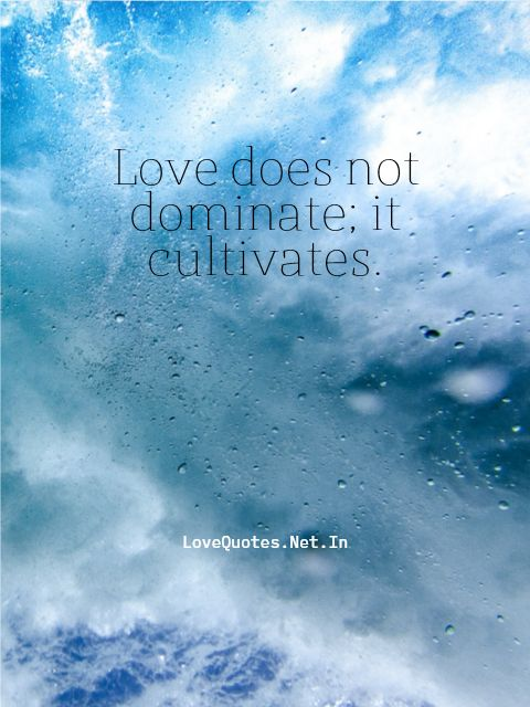 Love Does Not Dominate