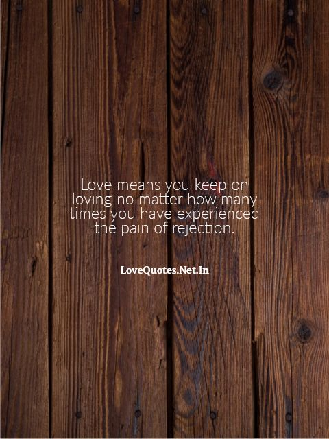 Love Means You Keep On Loving