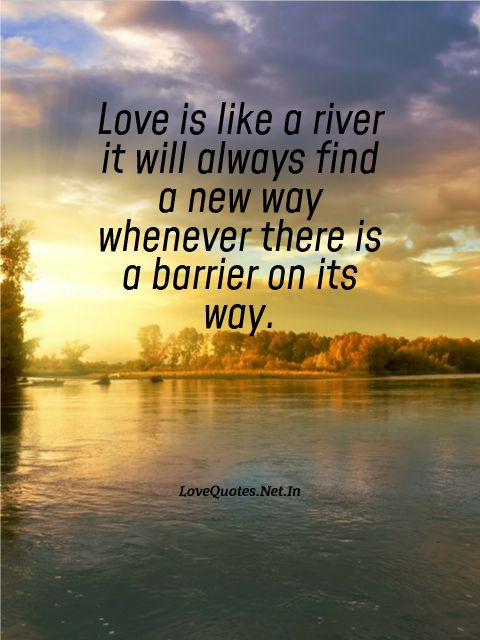 Love is Like a River