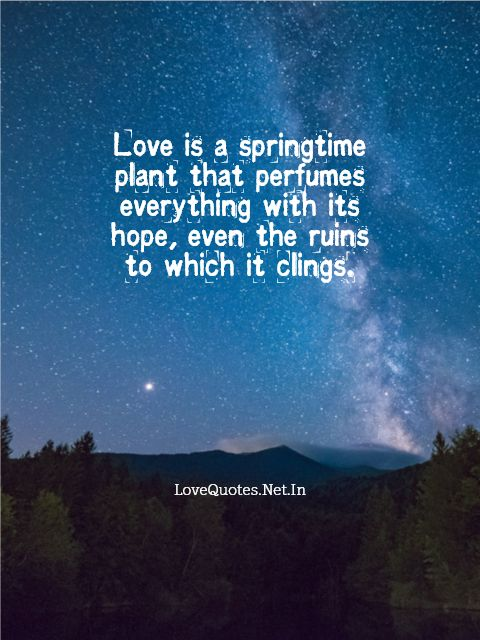 Love is a Springtime Plant