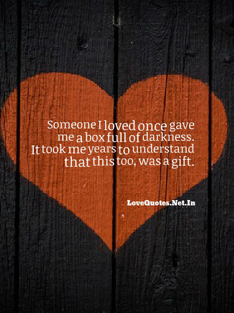 Someone I Loved Once