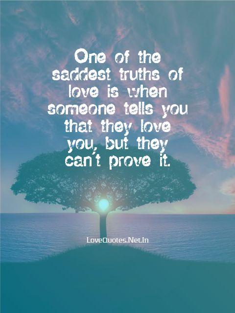 The Saddest Truths Of Love