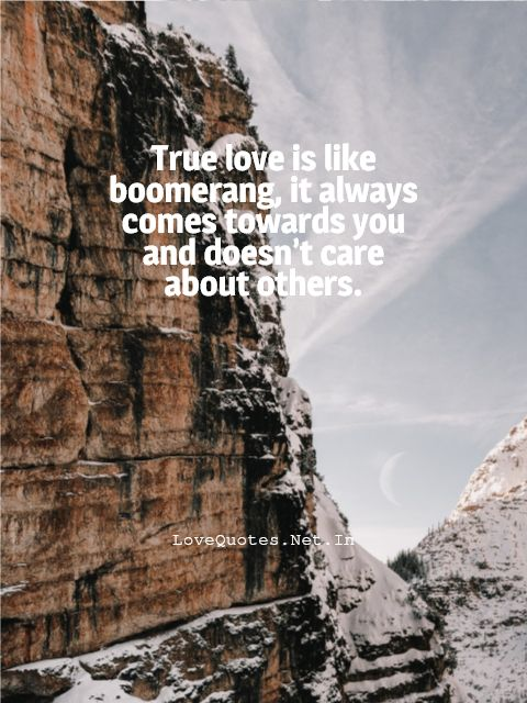 True Love Is Like Boomerang