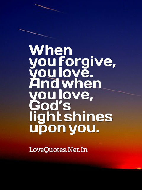 When You Forgive, You Love