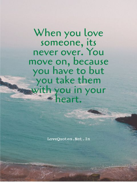 When You Love Someone, Its Never Over